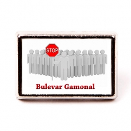 Pin Stop bulevar Gamonal 21x13 mm.